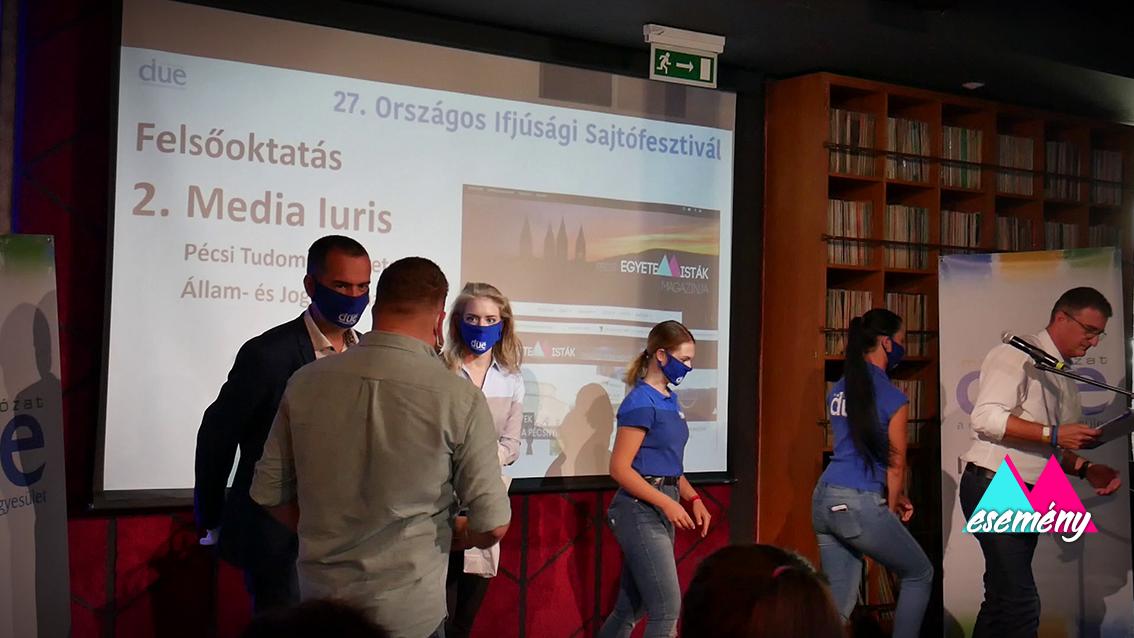 Két kategóriában is dobogós lett a Media Iuris a 27. Országos Ifjúsági Sajtófesztiválon!